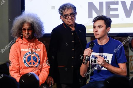 Erica Ford, Deepak Chopra and David Hogg