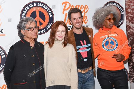 Deepak Chopra, Julianne Moore, Blake Mycoskie and Erica Ford