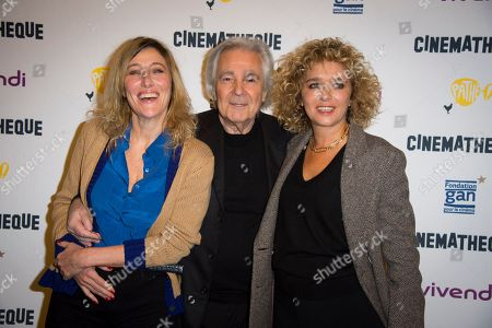 (left to right) Valeria Bruni Tedeschi, Pierre Arditi and Valeria Golino