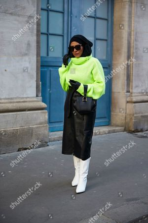Editorial image of Street Style Spring Summer 2019, Haute Couture Fashion Week, Paris,  France - 21 Jan 2019