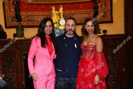 Laurence Roustandjee, Dany Atrache, Alicia Fall in the front row