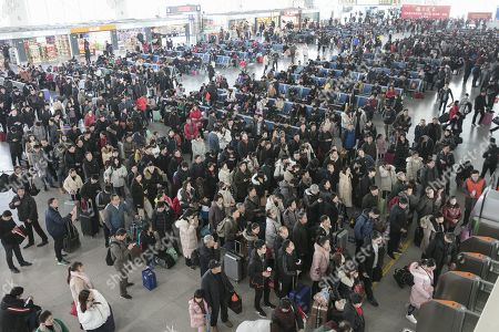 Spring festival travel rush, China