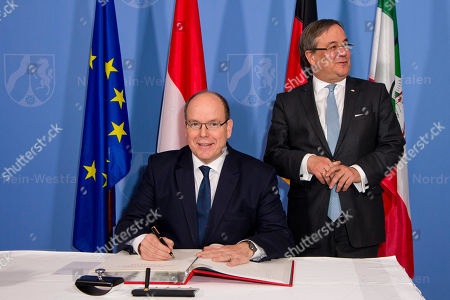 Prince Albert II of Monaco visit to Dusseldorf