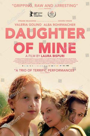 Stock Picture of Daughter of Mine (2018) Poster Art. Sara Casu as Vittoria, Alba Rohrwacher as Angelica and Valeria Golino as Tina