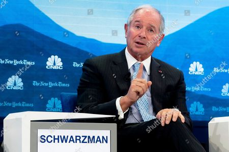 Stephen Schwarzman CEO Blackstone speaks during the session 'Shaping a New Market Architecture' at annual meeting of the World Economic Forum in Davos, Switzerland