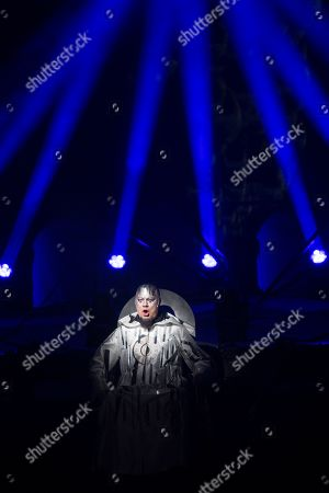 German bass Rene Pape performs on stage during a dress rehearsal of the play 'Thamos, King of Egypt' in Salzburg, Austria, 21, January 2019 (issued 22 January 2019). Tobias Philipp von Gebler's play will be staged at the Salzburg Mozart Week, which runs from 24 January to 03 February 2019.
