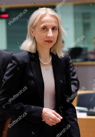 Polish Minister of Finance Teresa Czerwinska during European Finance Ministers' meeting in Brussels, Belgium, 22 January 2019.