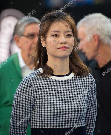 Li Na during a Tennis Hall of Fame Ceremony at the 2019 Australian Open Grand Slam tennis tournament