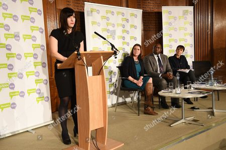 (L-R) Labour Party MP Bridget Philipson, Liberal Democratic Party MP Jo Swinson, Labour Party MP David Lammy and Green Party MP Caroline Lucas attend a People's Vote Campaign press conference in London, Britain, 22 January 2019. British Prime Minister Theresa May has set out her Ben Drew for Brexit to parliament, which will be voted on 29 January.