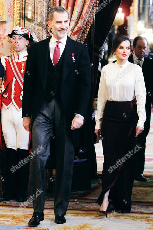 Spanish Royals receive Foreign Ambassadors, Madrid