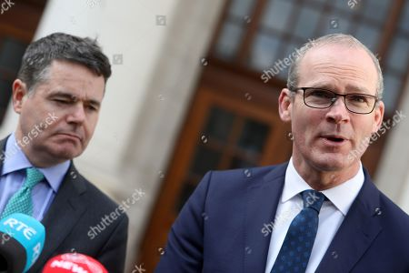 Fine Gael Minister for Finance, Public Expenditure and Reform, Paschal Donohoe, Tanaiste, Minister for Foreign Affairs and Trade with responsibility for Brexit, Simon Coveney