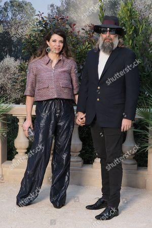 Sebastien Tellier and Amandine de la Richardiere in the front row