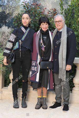 Stock Image of Oona Chaplin, Geraldine Chaplin and Patricio Castilla on the front row