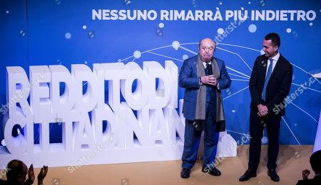 Editorial photo of Deputy Premier Di Maio nominates comedy actor Lino Banfi to represent Italy at UNESCO, Rome - 22 Jan 2019