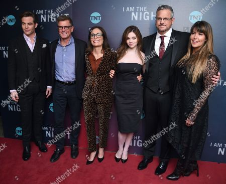 Chris Pine, Kevin Reilly, Sarah Aubrey, India Eisley, Sam Sheridan and Patty Jenkins