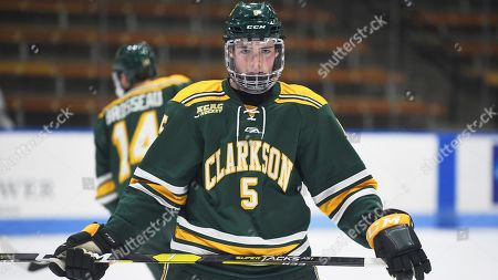 Clarkson's Michael Underwood during an NCAA hockey game against Yale on Friday, Jan.18, 2019 in New Haven, Conn