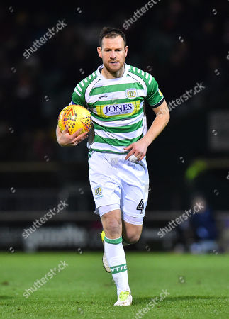 Gary Warren (4) of Yeovil Town during the EFL Sky Bet League 2 match between Yeovil Town and Lincoln City at Huish Park, Yeovil