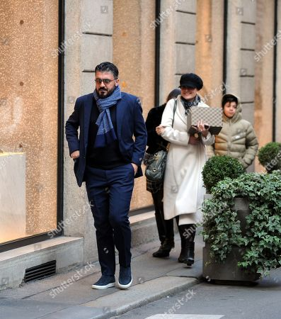 Rino Gattuso out and about, Milan