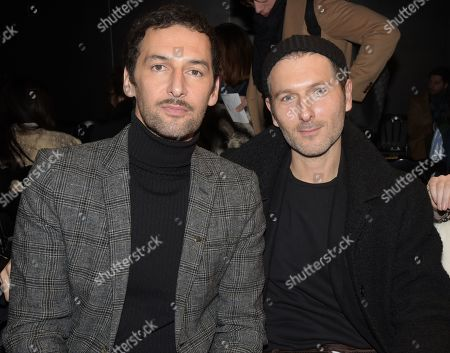 Guilhem and Louis-Marie de Castelbajac in the front row