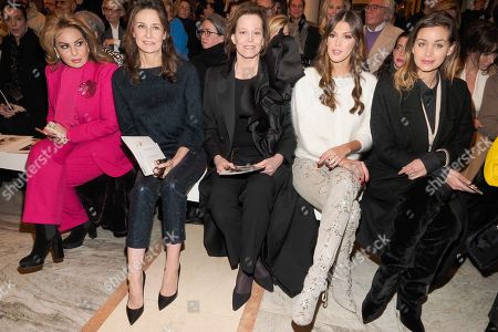 Valerie Lemercier, Sigourney Weaver and Iris Mittenaere in the front row