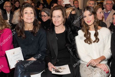Stock Photo of Valerie Lemercier, Sigourney Weaver and Iris Mittenaere in the front row