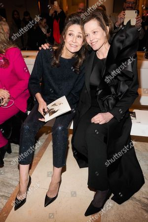 Valerie Lemercier and Sigourney Weaver in the front row