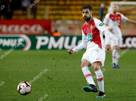Cesc Fabregas of AS Monaco in action during the French Cup round of 16 soccer match between AS Monaco and FC Metz at Stade Louis II, in Monaco, 22 January 2019.