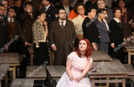 Venera Gimadieva performs in the role of Amina during a dress rehearsal at the Deutsche Oper for the opera 'La Sonnambula'by Vincenzo Bellini, Berlin, Germany, 22 January 2019. The opera's run begins on 26 January.