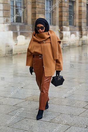 Editorial photo of Street Style Spring Summer 2019, Haute Couture Fashion Week, Paris,  France - 22 Jan 2019