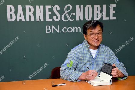 Jackie Chan 'Never Grow Up' book signing, New York