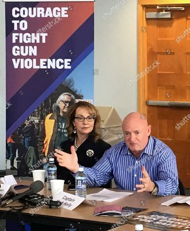 Former Congresswoman Gabby Giffords and her husband, former astronaut Mark Kelly, speak in Denver to a new group of Colorado gun owners who back gun control . Giffords was gravely wounded in a 2011 mass shooting in her Arizona district. The national gun control group she and Kelly co-founded helped launch the new Colorado organization