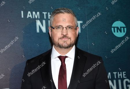 "Creator and executive producer Sam Sheridan attends the premiere of the TNT mini-series ""I Am the Night"" at Metrograph, in New York"