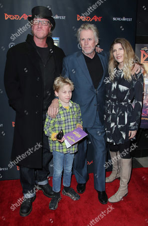 Stock Image of Luke Busey, Jake Busey, Gary Busey and Steffanie Sampson