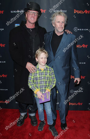 Stock Photo of Luke Busey, Jake Busey and Gary Busey