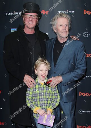 Stock Picture of Luke Busey, Jake Busey and Gary Busey