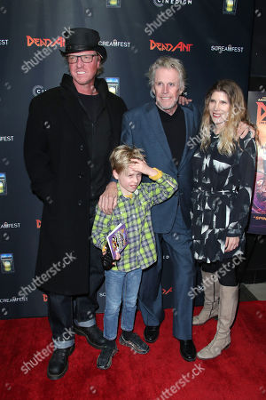 Stock Picture of Jake Busey, Luke Busey, Gary Busey, Steffanie Sampson