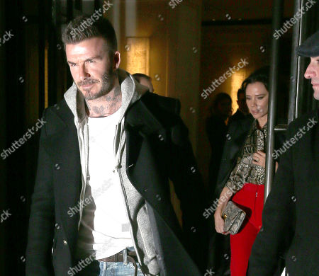 David Beckham and Victoria Beckham out and about, New York