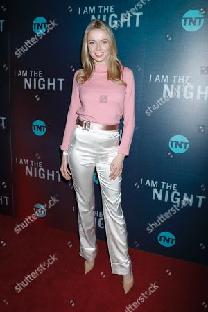 Editorial image of 'I Am The Night' TV show premiere, Arrivals, New York, USA - 22 Jan 2019