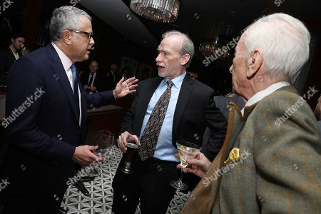 Stock Image of Jeffrey Toobin, Steve McCarthy (Co-Director) and Gay Talese