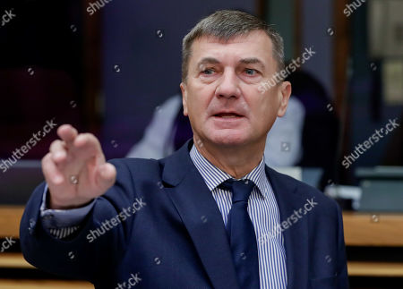 European Commissioner for Digital Single Market Andrus Ansip during the weekly college meeting of the European commission in Brussels, Belgium, 23 January 2019.