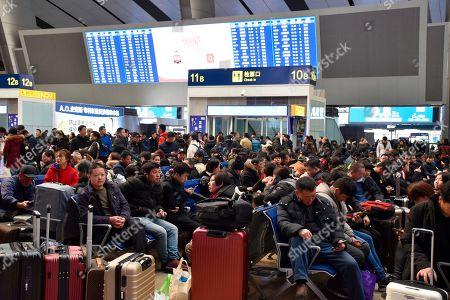 Spring festival travel rush, China