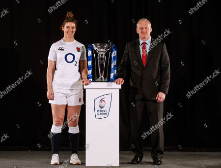 Stock Picture of England captain Sarah Hunter and Head Coach Simon Middleton