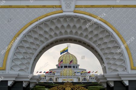 A general view of the Malaysian National Palace (Istana Negara) in Kuala Lumpur, Malaysia, 23 January 2019. Malaysia's Conference of Rulers will meet at the Palace on 24 January 2019 to decide which of the country's nine sultans will become its next head of state, known as Yang di-Pertuan Agong (Malaysian King), for the next five years. The new King is expected to be installed on 31 January. The move comes after the abdication of Sultan Muhammad V of Kelantan on 06 January 2019 as the country's 15th Agong, or Supreme Ruler, after just two years on the throne. The appointment of the king is rotated among nine of Malaysia's 13 states that have hereditary royal rulers.