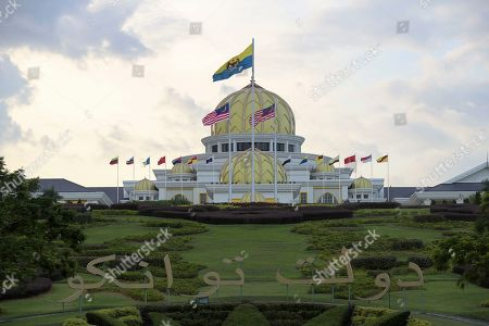 The words 'Daulat Tuanku' (lit. 'Long Live The King') are seen in the gardens outside the Malaysian National Palace (Istana Negara) in Kuala Lumpur, Malaysia, 23 January 2019. Malaysia's Conference of Rulers will meet at the Palace on 24 January 2019 to decide which of the country's nine sultans will become its next head of state, known as Yang di-Pertuan Agong (Malaysian King), for the next five years. The new King is expected to be installed on 31 January. The move comes after the abdication of Sultan Muhammad V of Kelantan on 06 January 2019 as the country's 15th Agong, or Supreme Ruler, after just two years on the throne. The appointment of the king is rotated among nine of Malaysia's 13 states that have hereditary royal rulers.
