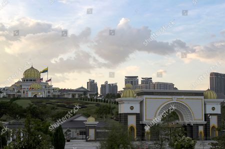 Stock Picture of A general view of the Malaysian National Palace (Istana Negara) in Kuala Lumpur, Malaysia, 23 January 2019. Malaysia's Conference of Rulers will meet at the Palace on 24 January 2019 to decide which of the country's nine sultans will become its next head of state, known as Yang di-Pertuan Agong (Malaysian King), for the next five years. The new King is expected to be installed on 31 January. The move comes after the abdication of Sultan Muhammad V of Kelantan on 06 January 2019 as the country's 15th Agong, or Supreme Ruler, after just two years on the throne. The appointment of the king is rotated among nine of Malaysia's 13 states that have hereditary royal rulers.