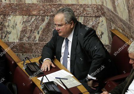 Editorial image of Debate on Prespes Agreement in Greek Parliament, Athens, Greece - 23 Jan 2019