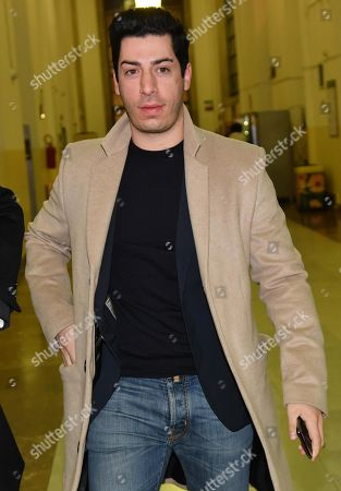 Renzo Bossi, son of founder and former leader of the far-right League (Lega) party Umberto Bossi, arrives at the Justice Palace (Palazzo di Giustizia) for a hearing in a corruption case against him, Umberto Bossi and former Lega treasurer, Francesco Belsito, in Milan, northern Italy, 23 January 2019. Milan's Attorney General demanded that the lawsuit filed by the Lega against former treasurer Francesco Belsito is to be extended to Umberto Bossi and his son Renzo. The League party has been at the center of a corruption scandal when, between 2008 and 2011, then treasurer Francesco Belsito was charged with money-laundering, embezzlement and fraud of using public funds for the party's expenses.