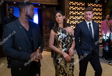 Lance Gross as Maurice Jetter, Camila Banus as Nina and William Levy as Mateo