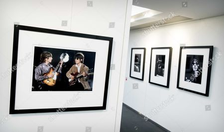 Stock Photo of The exhibition Unseen Beatles in art'otel in Amsterdam, 23 January 2019. The private collection of exclusive photos is owned by Dutch Ivo de Lange, a good friend of photographer Robert Whitaker, who travelled with the band as a home photographer between 1964 and 1966. After the exhibition the photos will be auctioned.