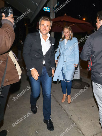 Stock Photo of Robert Herjavec and Kym Johnson at Craig's restaurant
